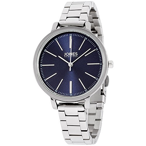 (Jones New York Blue Dial Stainless Steel Ladies Watch 11593S528-004)