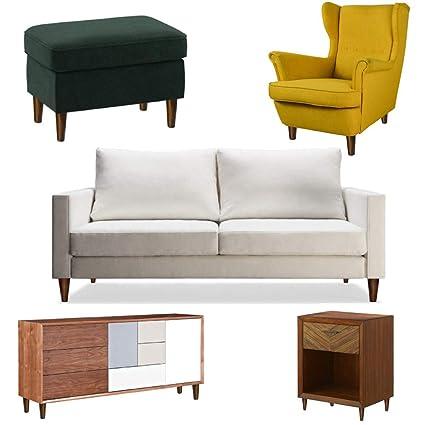 Patas de madera para muebles vintage (juego de 5) - Viene ...