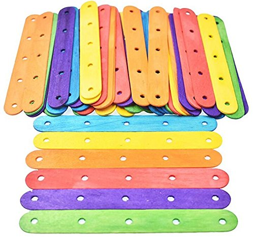 Junson Approx. 50Pcs DIY Wooden Stick Ice Cream Stick for Build House Swing-Random 4336896029