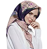 Armine 100% Silk Square Turkish Scarf Islamic Hijab Headscarf Spring 2017 #7667