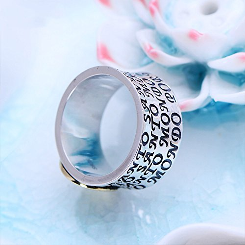 MetJakt Virgin Mary Solid 925 Sterling Ring with Scripture for Unisex Anniversary Religious Fine Jewelry (7) by MetJakt (Image #4)