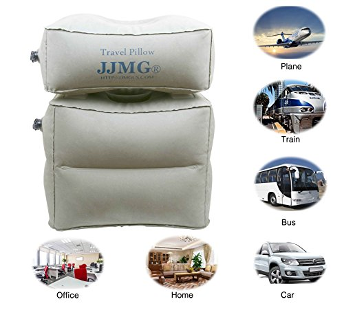 JJMG New Inflatable Adjustable Detachable Leg Rest Travel Pillow On Long Flights, for Kids Sleeping and Resting in Car/Plane, Outdoor Activities Air Cushion