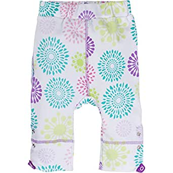 MiracleWear Patented Adjustable Snap-N-Grow 100% Cotton Pants by Miracle Blanket (6-12 Month, Colorful Burst)