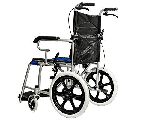 Sedie A Rotelle Schienale Alto : Carrozzina pieghevole per disabili sedia a rotelle a spinta