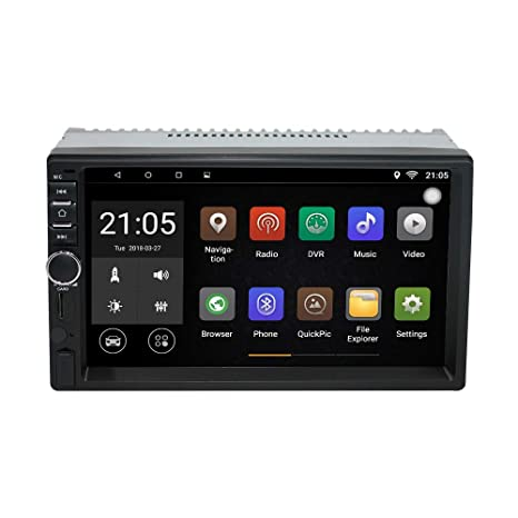 Upgraded Android 7 1 Quad Core CPU 2G Ram 32G ROM 7 Inch Touch Screen in  Dash Double Din Car Stereo GPS Navigation WiFi Bluetooth Radio Headunit  with