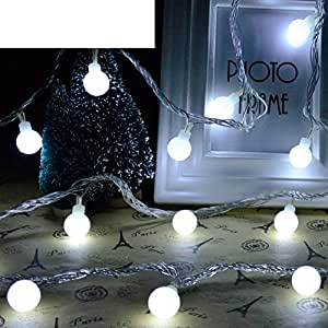 LED illumination flashing light exquisite ball string lights Christmas decoration star light-H