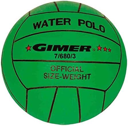 GIMER Waterpolo, balón Unisex Niños, Verde, número 3: Amazon.es ...
