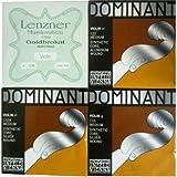 バイオリン ADsilG  ドミナント弦セット E線ゴールドブロカット0.26ループ(D線シルバー) リッチオリジナルセットパッケージ入り(0.26L)