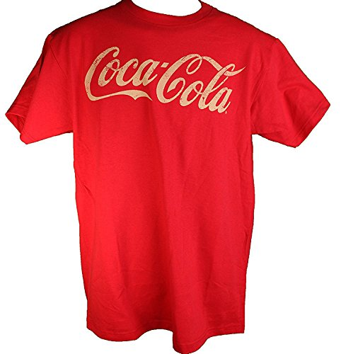[Coca-Cola Adult Mens T-Shirts (M, Distressed Coke, Red)] (Coca Cola Dress)