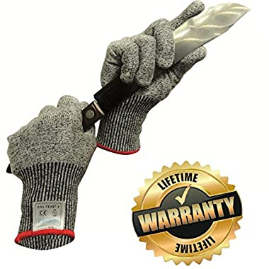 Kibaron Cut Resistant Gloves Food Grade, Lightweight and Breathable with Level 5 Protection for Your Safety (Large)