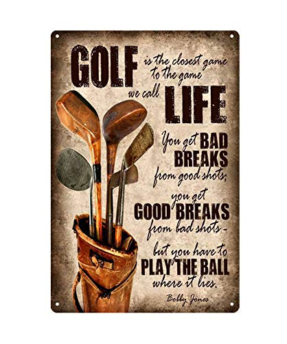(WholesaleSarong Golfing Golf Life Metal tin Sign Home bar Ideas Metal Rusty Replica Art)
