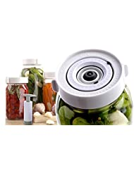 Premium Easy Wide-Mouth Fermenting Kit. Track Day and Month. 3 or 6 Waterless Airlock Fermenter Lids, Pump, Help Guide. Ferment Sauerkraut, Pickls, plus all Fermented Probiotics. No Mold Time Saver