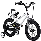 "Royalbaby Unisex Youth Freestyle boy's Girl's stabilisers Kids Children Child Bike Bicycle, White, 14"""