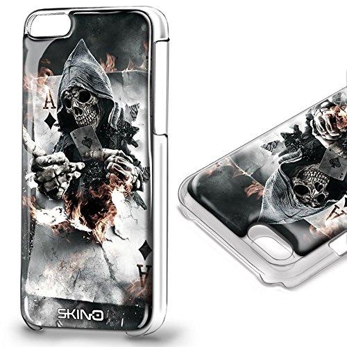 Skino™ Custodia Skin 3D Anti-Gravità Case Cover Hands-Free Selfie Resina Gel Sottile Antiurto iPhone 5 5s SE 6 6s Plus 7 Plus Anti-Scratch Protezione 100% UV Antigravità Antiscivolo SKULL SK-13 (iPhon