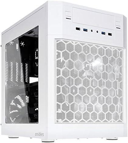 anidees AI-07MWW Carcasa de Ordenador Cubo Blanco - Caja de Ordenador (Cubo, PC, De plástico, Acero, Blanco, Micro ATX,Mini-ITX, 18 cm): Amazon.es: Informática