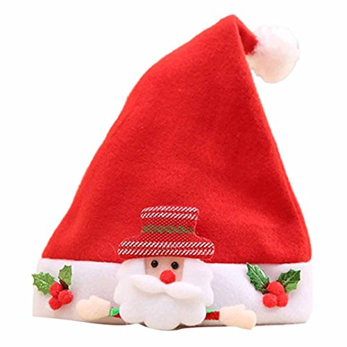 Children Santa Hat,Victorcn Christmas Party Lovely Santa Claus Cozy Soft Warm Red Hat - Oakley Employee Store