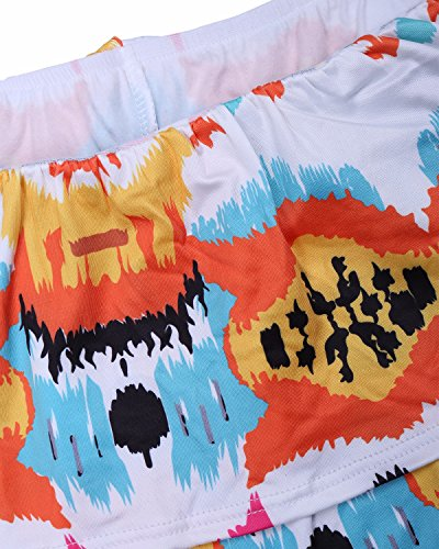 Donne 4 Dalla Partito Del Biubiu S Maxi Delle Del Stile Spalla 3xl Vestito Eleganti Bodycon ispessito Floreale Arancione 0q0IxgZ5