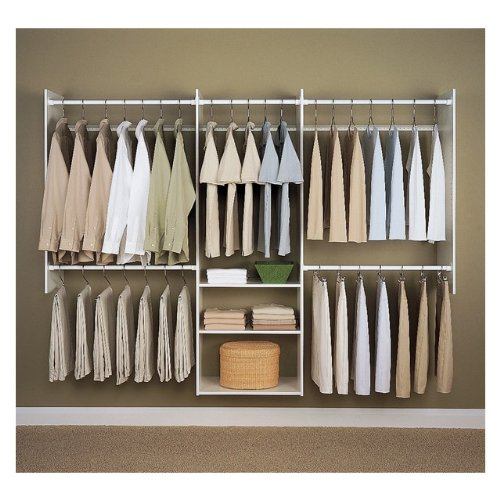 Amazon.com: Easy Track RB1460 4 to 8-Foot Deluxe Closet Starter Kit, White:  Home u0026 Kitchen
