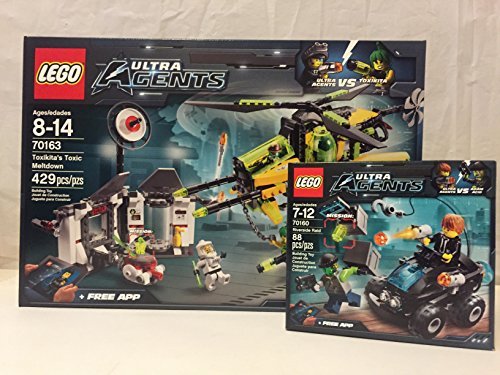 Lego Ultra Agents Toxikita's Toxic Meltdown and Lego Ultra Agents Riverside Raid