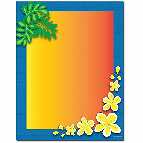 (Tropical Paradise Letterhead Laser & Inkjet Printer Paper, 100 pack)