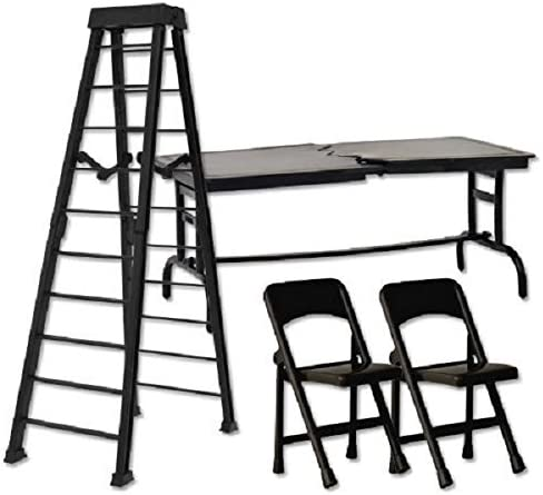 10 Black Ladder Ultimate TLC Set - Wrestling Figure Accessories (For WWE/TNA Action Figures) by The Wrestling Stall: Amazon.es: Juguetes y juegos