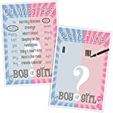 Katie Doodle GR009 Baby Gender Reveal Party, Decorations Supplies Activities Games, Old Wives Tales and Cast Your Vote Poster Pack, 12x18 inches, Blue/Pink