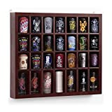 Yaheetech 28 Shot Solid Wood Glass Display Curio Wall Case Shelf No Door Golf ball Storage Cabinet