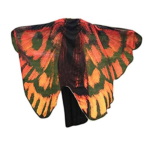 VESNIBA Soft Fabric Butterfly Wings Shawl Fairy Ladies Nymph Pixie Costume Accessory (197125CM, Coffee) -