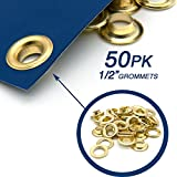 """Ram-Pro 1/2"""" Brass Grommets Eyelets with Washers"""