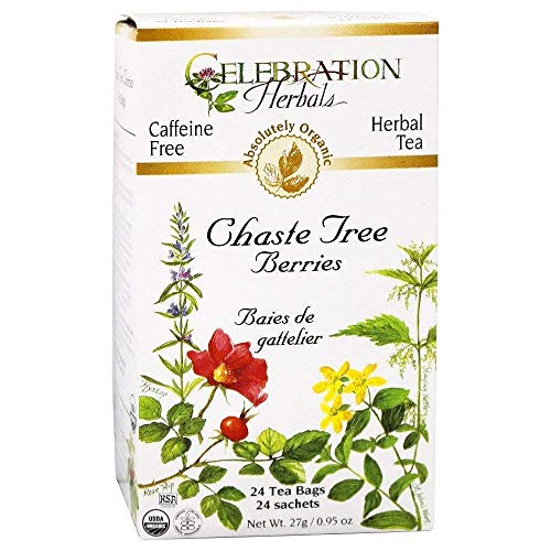 Celebration Herbals Organic Chaste Tree Berries Tea, 24 Bags