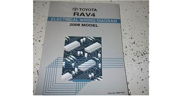 2008 toyota rav4 rav 4 electrical wiring diagram service shop repair manual  ewd paperback – 2008