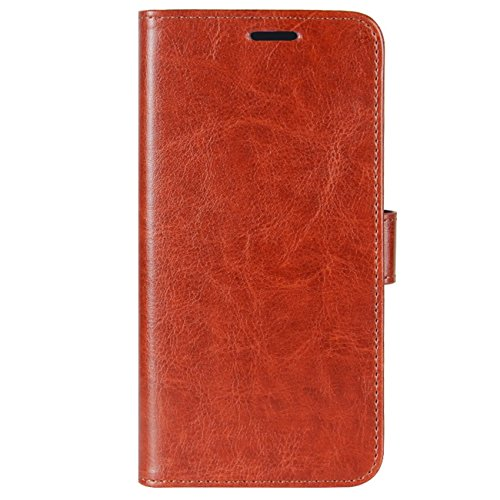 Folio Phone Premium BQ Credit Flip Case PU Cover with Retro Protective U2 Leather ID HualuBro U2 Aquaris Handmade Wallet Brown Aquaris for BQ Card Slots Case Brown dPwqzI