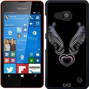 Funda para Microsoft Lumia 550 - Corazón Y Las Alas Negro by Nina Baydur