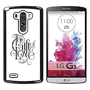 Planetar? ( Gift Of Love Calligraphy God Christian Faith ) LG G3 / D855 / D850 / D851 Hard Printing Protective Cover Protector Sleeve Case