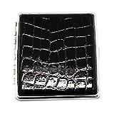 Black Faux Croco (Holds 20 kings) Cigarette/Card Case