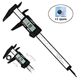 Digital Caliper, Adoric 0-6' Calipers Measuring Tool - Electronic Micrometer Caliper with Large LCD Screen, Auto-off Feature, Inch and Millimeter Conversion