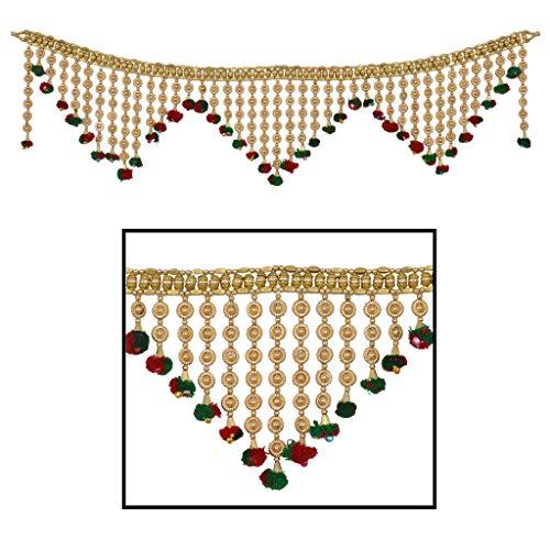 Amba Handicraft Door Hanging Toran Window Valance Dream Catcher Home Décor Interior Pooja bandanwaar Diwali Gift Festival Colorful Indian Handicraft Love.TORAN56