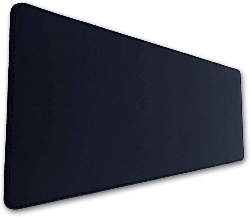 Large Mouse Pad Black Anti-fray Stitched Edges 30.71 x 13.78 in Micro-Woven Surface Non-Slip Rubber Base by Green2B Keyboard Mat Extended Gaming Mouse Pad All DPI Setting No Logo