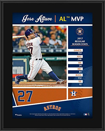 """Jose Altuve Houston Astros 10.5"""" x 13"""" 2017 AL MVP Sublimated Plaque - MLB Player Plaques and Collages by Sports..."""