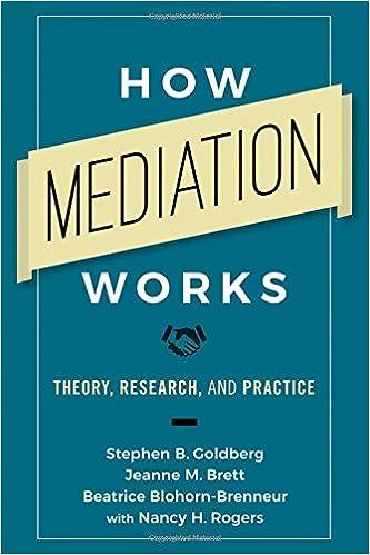 Image result for how mediation works goldberg brett