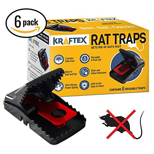 Mouse Exterminator Costume (Rat Trap [Special Offer] Traps - Catch Rodents Fast [Quick Effective] Trapper Pack by Kraftex [Easy to Use ZERO Contact with Rats] Protect Children, Pets, Livestock Against Diseases and Pests - 6 Pack)