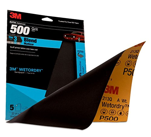 3M 32037 Imperial Wetordry 9'' x 11'' P500 Grit Sheet (Pack of 20)