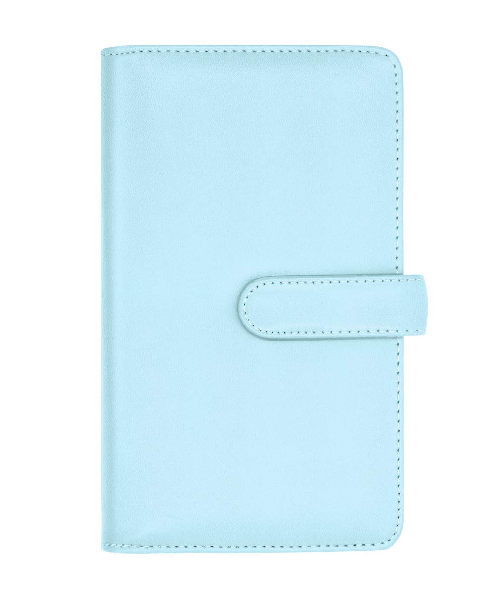 Phetium Mini Photo Album for Fujifilm Instax Film, 96 Pockets Photo Album for Fujifilm Instax Mini 9 Mini 8 8+ Mini 90 Mini 25, Polaroid PIC-300, HP Sprocket, Kodak Mini 3-Inch Film (Ice Blue) PTMIB