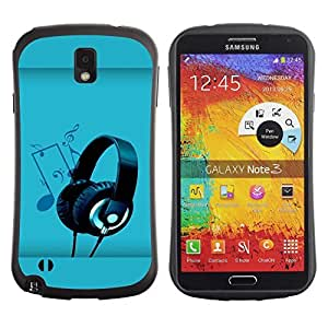 Be-Star Colorful Printed Design Anti-Shock iFace First Class Tpu Case Bumper Cover For SAMSUNG Galaxy Note 3 III / N9000 / N9005 ( Sound Colors ) Kimberly Kurzendoerfer
