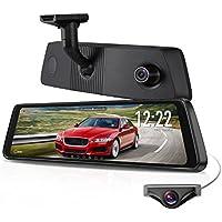 "X1PRO Rear View Mirror Dash Cam 9.88"" Full Touch Screen..."