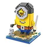 Despicable Me 2015 - LOZ Cosplay Pirate Minions Stuart Nanoblocks Mini Action Figure Lego Diamond Building Blocks Set DIY Educational Toy 510pcs