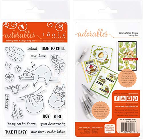 Clear Studio Stamps Paper - TONIC STUDIOS Clear Stamps-Sammy Takes It Easy