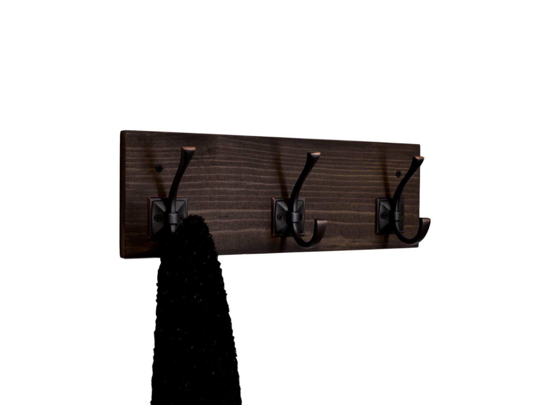 Coat or Bath Towel Rack 3 Hooks