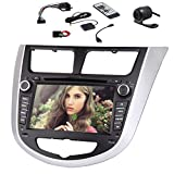 Audio Car DVD Player for Hyundai Verna 2010-2015 Accent Solaris I20 CD FM AM Bluetooth Parts GPS Navigation Video Vehicle Stereo Radio Receiver Autoradio Multimedia System Motorized RDS Aux Camera