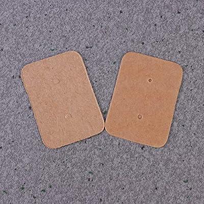 HEALLILY tarjetas de exhibici/ón del pendiente organizador del sostenedor de la joyer/ía sostenedor de la joyer/ía para los pendientes de la joyer/ía 100pcs blanco